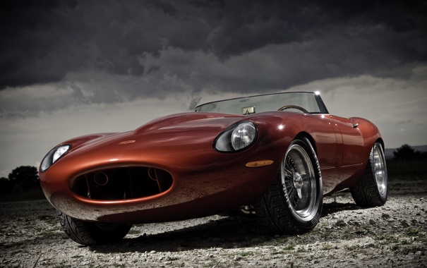 Фото обои e-type, speedster, jaguar
