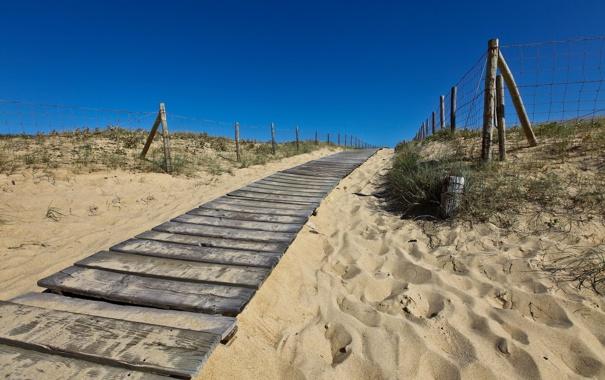 Фото обои песок, небо, дорожка