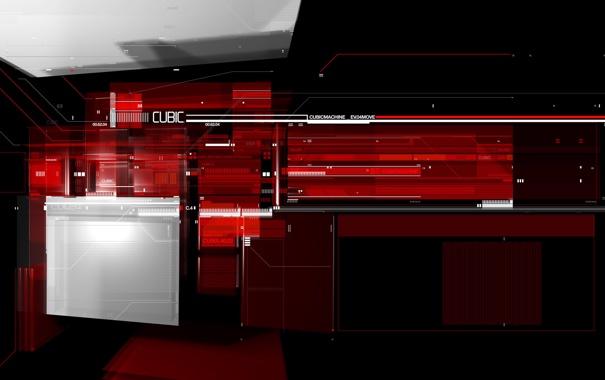 Фото обои линии, красный, абстракция, надписи