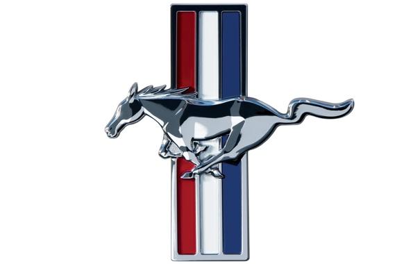 Фото обои mustang, мустанг, лого, белый фон, logo