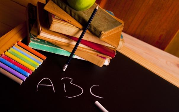 Фото обои буквы, фон, обои, настроения, книги, яблоко, wallpaper