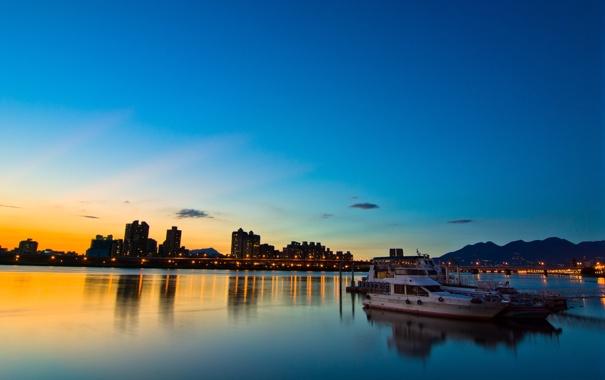 Фото обои закат, taipei, taiwan