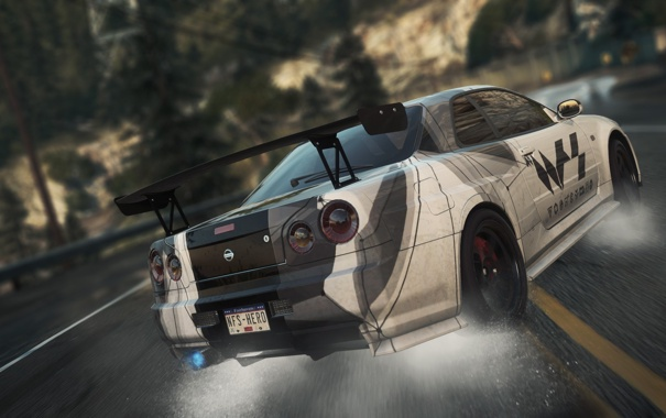Фото обои Nissan, GT-R, need for speed, nfs, Skyline, most wanted