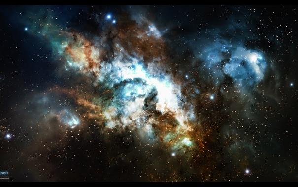 Фото обои звезды, созвездие, nebula, crazy eddie