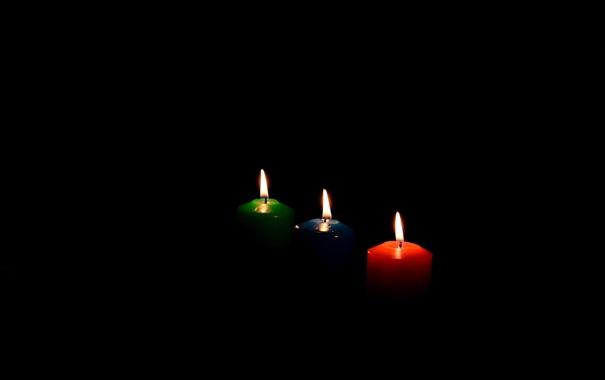 Фото обои огонь, пламя, цвет, свечи