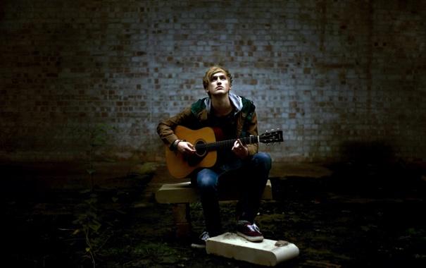 Фото обои музыка, гитара, парень
