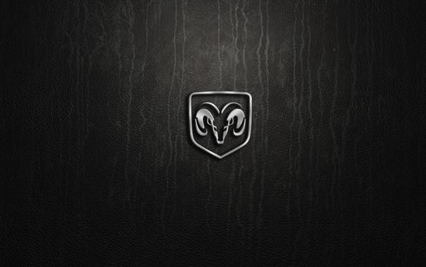Фото обои silver, logo, dodge