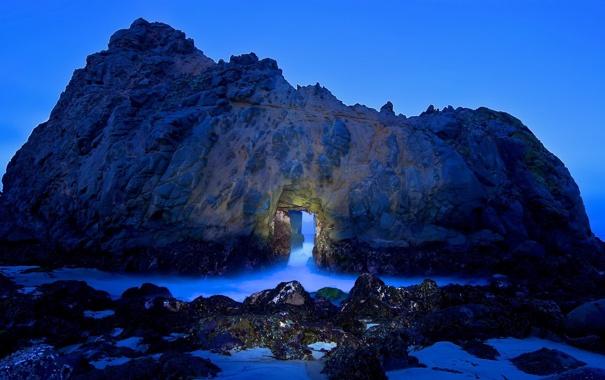 Фото обои природа, пейзаж, скалы, море, грот