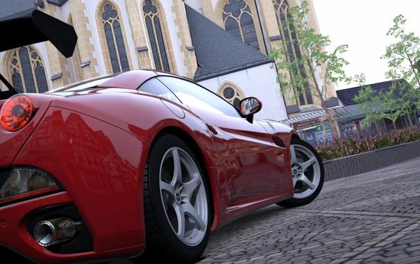 Фото обои Ferrari, supercar, cars, auto