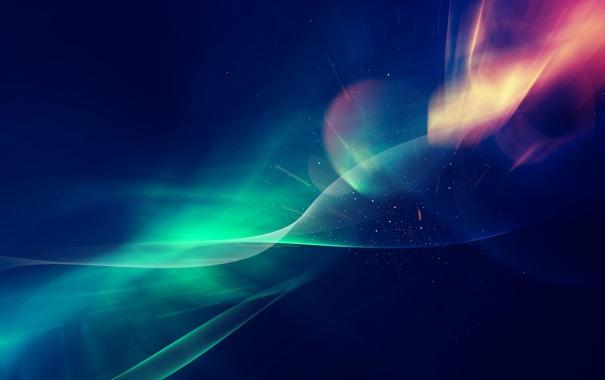 Фото обои космос, звезды, сияние, красота