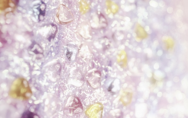 Фото обои стекло, сияние, блеск, сердечки, текстуры, боке, обои от lolita777