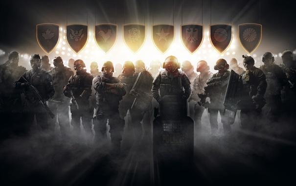 Фото обои оружие, полиция, бойцы, спецназ, Tom Clancys, Rainbow Six Siege, Pro League