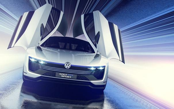 Фото обои Concept, Volkswagen, гольф, Golf, фольксваген, Sport, GTE