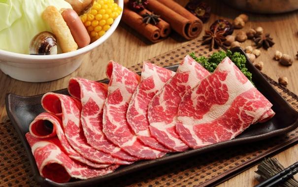 Фото обои мясо, корица, нарезка, специи, бадьян