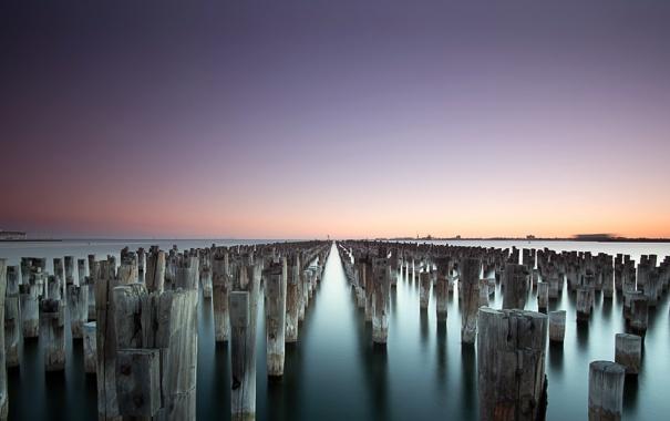 Фото обои Melbourne, Australia, Victoria, Princes Pier, Port Melbourne