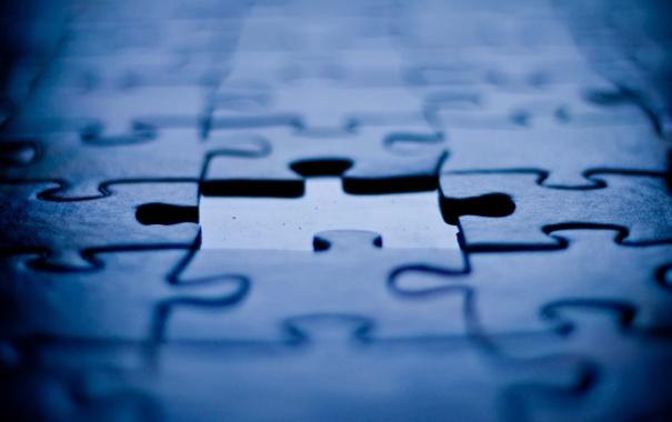 Фото обои макро, синий, цвет, пазл