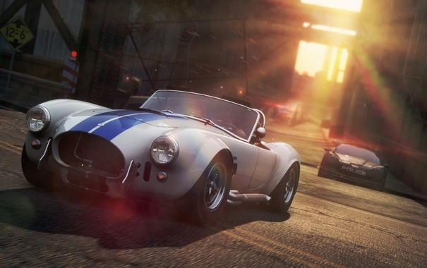Фото обои город, гонка, полиция, погоня, Chevrolet, Shelby Cobra, Need For Speed MostWanted 2