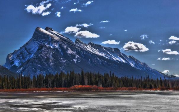 Фото обои пейзаж, природа, гора