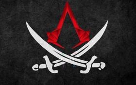 Картинка фон, эмблема, Black Flag, Assassins Creed 4
