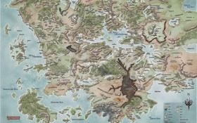Обои Карта, Фаэрун, ЗабытыеКоролевства