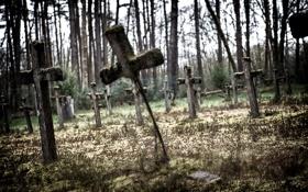 Обои фон, кресты, кладбище