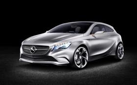 Обои концепт, A-class, серебро