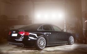 Картинка Audi, ауди, тюнинг, черная, black