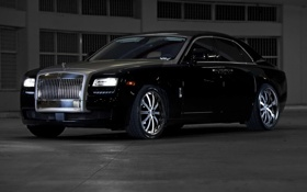 Картинка чёрный, Rolls-Royce, Ghost, black, ролс ройс, гост