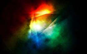 Обои линий, дым, цвета