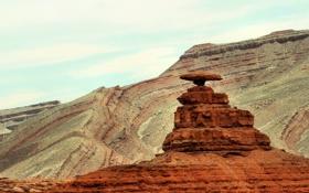 Обои небо, горы, камни, Monument Valley, Долина монументов