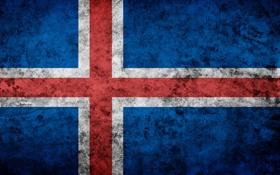 Обои исландия, iceland, флаг