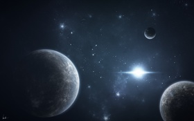 Картинка свет, планеты, starlight, звездная система