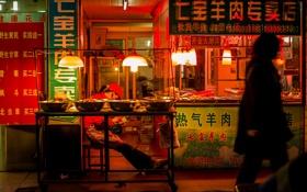 Обои люди, Китай, Шанхай, питание, магазин, быт, в центре города