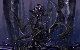 Картинка эльф, мечи, тёмный