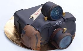 Обои еда, камера, торт, Birthday cake