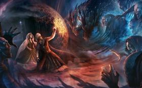 Картинка магия, портал, щит, нечисть