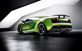 Картинка green, Lamborghini, Superleggera, Gallardo, supercar, wallpapers, LP570-4