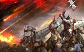 Картинка тьма, война, битва, орки, сияние тьмы