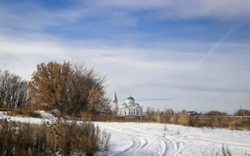 Картинка осень, снег, пейзаж, арзамас