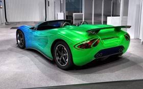 Обои машина, зеленый цвет, Ronn Scorpion