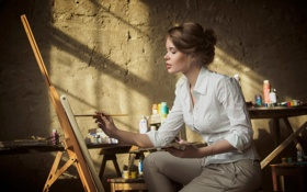 Обои краски, художник, творчество, кисть, Ксения Паленова, Maxim Guselnikov