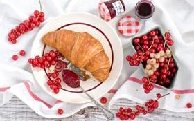Обои варенье, ложка, джем, смородина, завтрак, еда, ягоды