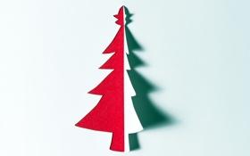 Обои праздник, минимализм, ёлка