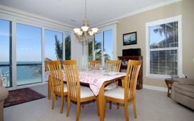 Обои дизайн, вилла, дом, коттедж, столовая, интерьер, комната
