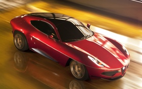 Картинка Concept, фары, скорость, Touring, Disco Volante, SuperLeggera