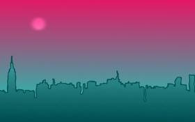 Картинка ночь, город, фон