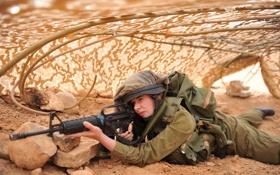 Обои девушка, солдат, Israel Defence Force