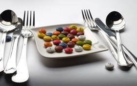 Обои еда, приборы, конфеты