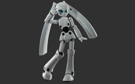 Обои робот, жест, белый, поза