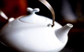 Обои чай, чайник, заварник, керамика